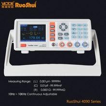 RuoShui VC4090 시리즈 디지털 브리지 커패시턴스 저항 인덕턴스 측정 LCR 미터 전기 전자 부품 테스터