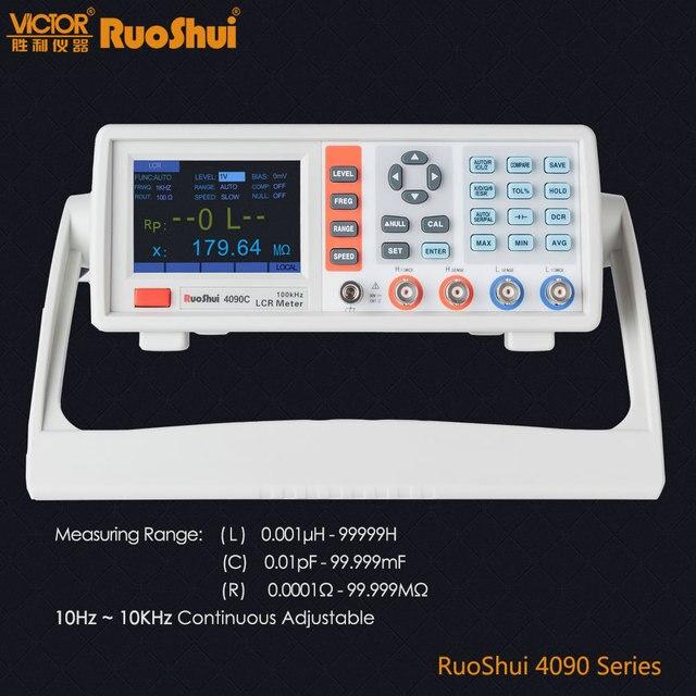 RuoShui VC4090 Serie Ponte Digitale Misuratore di Capacità di Resistenza Induttanza Misura LCR Elettrico Componente Elettronico Tester