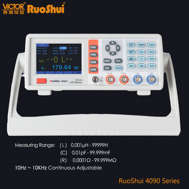 RuoShui VC4090 Series Digital Bridge Capacitance Resistance Inductance Measure LCR Meter Electrical Electronic Component Tester