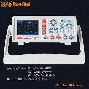 Image 1 - RuoShui VC4090 серия Цифровой мост сопротивление емкости индуктивность Измеритель LCR электрический электронный компонент тестер