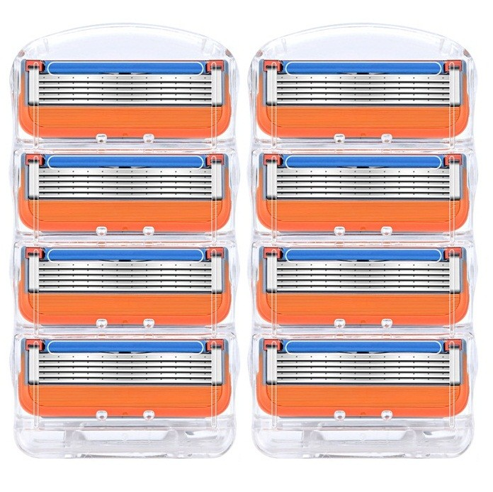 8 шт./лот лезвия для бритвы для мужчин лезвия для бритья Безопасные лезвия кассета бритва подходит для Gillette Fusion