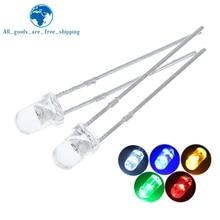 5 цветов X 20 шт. = 100 шт. F3 ультра яркие 3 мм круглые прозрачные зеленые/желтые/синие/белые/красные светодиодные лампы излучающие диоды Dides компл...
