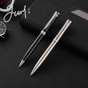 Image 1 - Guoyi G22 Staal Shell G2 424 Balpen Metalen High End Business Kantoor Geschenken En Corporate Logo Maatwerk Handtekening pen