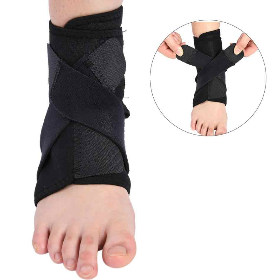 Adjustable Anti Sprain Foot Ankle Support Brace Belt Foot Injury Pain Wrap Strap Bandage Safety Protector For Men Women Foot