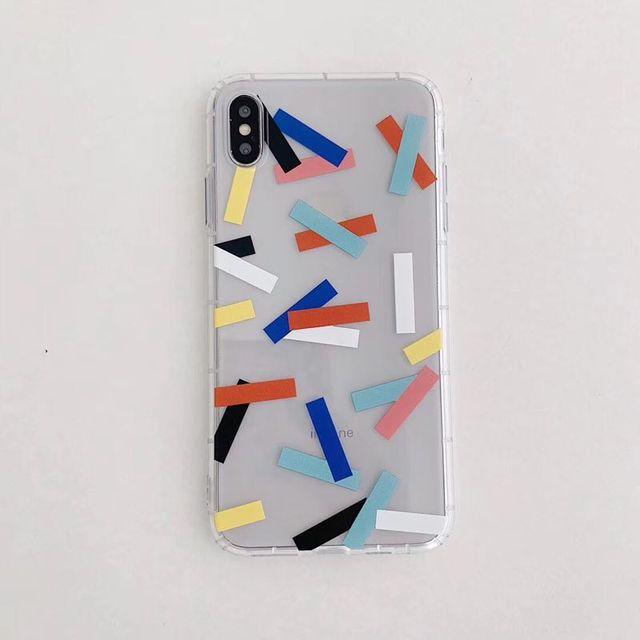 Simple Transparent Geometric Paper Case for Iphone