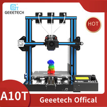 Geeetech A10T 3D Printer 3 in 1 out Mix-color Upgrade GT2560 V4.0 Controlboard Open Source 220x220x250mm LCD2004 FDM CE