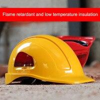 Capacete de segurança abs + pc material de trabalho de construção tampão de isolamento elétrico capacete de baixa temperatura capacete de alta resistência|Capacete de segurança| |  -