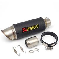 51mm 61mm input Scorpio Akrapovic exhaust motorcycle pipe muffler for honda dio honda rebel yamaha tw honda cb600f versys 650