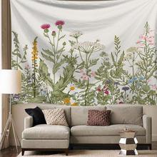 купить Colorful Floral Tapestry For Living Room Bedroom Decor Bedspread Tropical Plant Leaves Printed Wall Hanging Tapestry Fabrics по цене 475.46 рублей