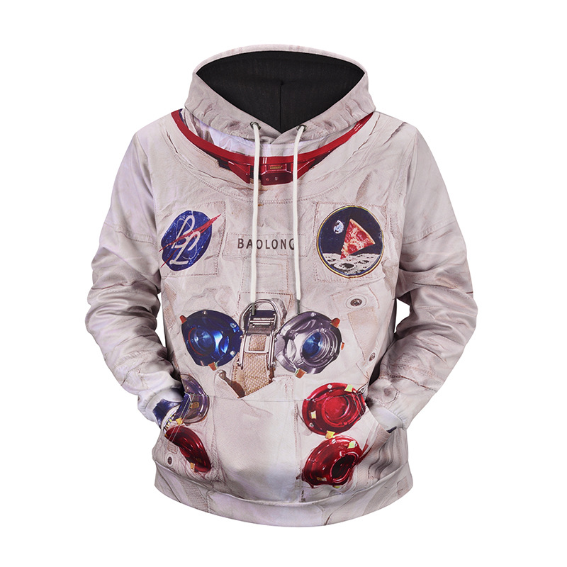 Men Hip Hop Pullover Coat M-3XL Autumn Men Winter Creative Fashion Print Loose Casual Cotton 3D Hoodies Sweatshirt Astronaut