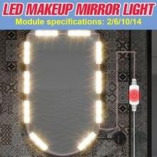 Лампа для макияжа 5 в с usb светодиодный светильник зеркала