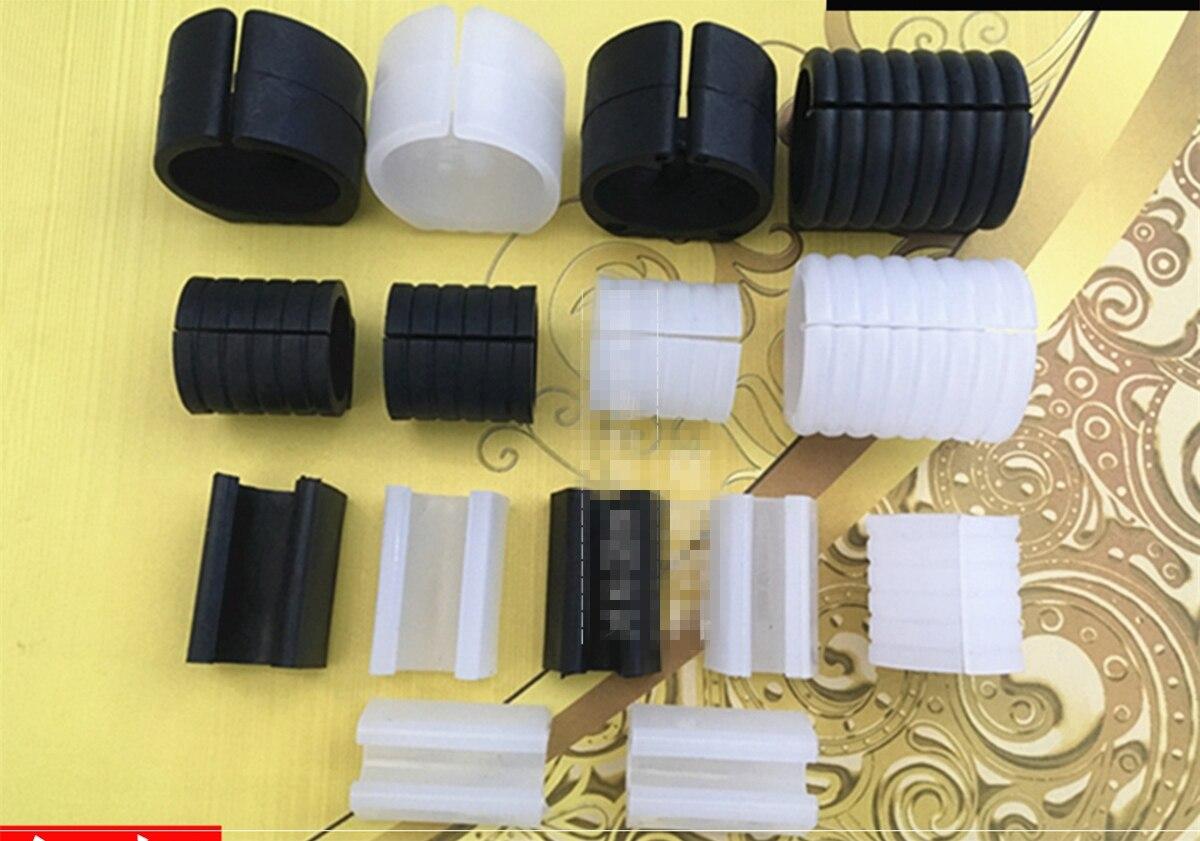 Diâmetro plástico preto 8 da tubulação do ajuste de 10 pces/10/12/16/19/22/25/32mm base redonda u forma mobília cadeira assoalho glide