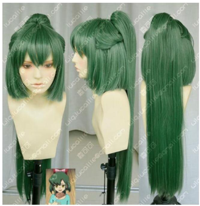 Парик Takahashi Южная темно-зеленый парик для косплея+ 80 см конский хвост клип
