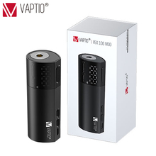 electronic Cigarette vape mods Vaptio Vex 100W Mod Vape battery 510 thread atomizer powered by 18650 Battery 21700 battery original vgod pro mech mod mechanical mod powered by single 18650 batetery hybrid 510 thread tank electronic cigarette vape mods