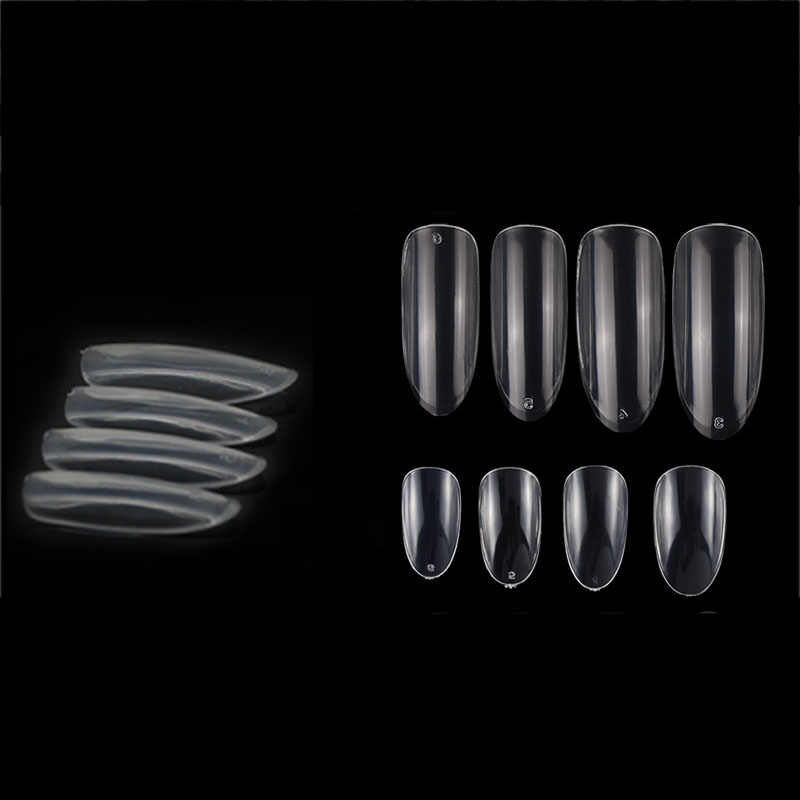 50Pcs Acryl Oval Falsche Nägel Kunst Professionelle Fingernagel Full Cover Falsche Nagel Kunst Fingernagel Poliert Transparent Gefälschte Nagel