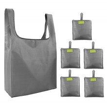 Складная Компактная сумка для покупок повторная стирка Экологически чистая Сумка водонепроницаемая ткань Оксфорд сумка для хранения под заказ