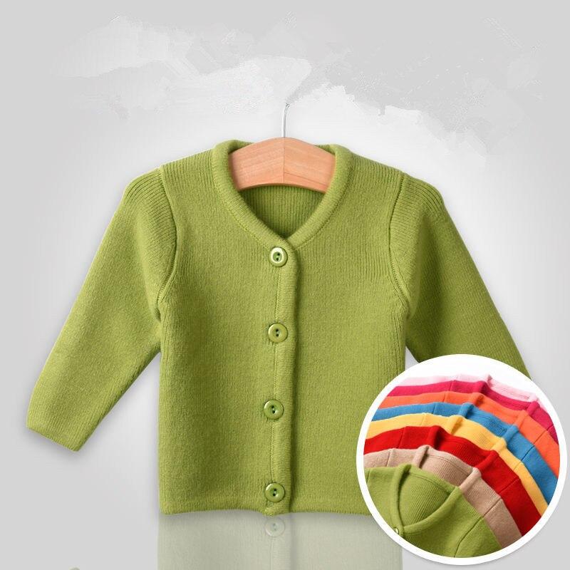 0 ila 6M yenidoğan kız kazak sonbahar sonbahar giysileri bebek kıyafetler bebekler ceket sıcak kış örme çocuk düz renk kazak