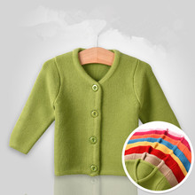 0 to 6M Newborn Girls Sweaters Fall Autumn Clothes Baby Outfits Infants Coat Warm Winter Knitted Children Solid Color Sweater