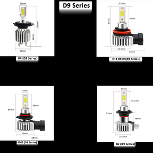 Image 2 - Cnsunnylight h11 9005/hb3 9006/hb4 conduziu a luz de nevoeiro do carro lâmpada do farol 2400lm 6000k branco 1900k amarelo h9 h8 h16 frente do automóvel