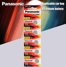 5 sztuk/partia oryginalny Panasonic CR1220 baterie guzikowe CR 1220 3V bateria litowa BR1220 DL1220 ECR1220 LM1220