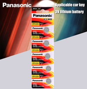 Image 1 - Panasonic pilas de botón CR1220 CR 1220 3V, 5 unidades/lote, batería de litio BR1220 DL1220 ECR1220 LM1220