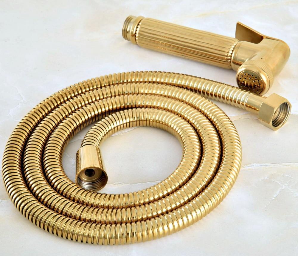 New Gold Handheld Bidet Sprayer set Toilet Portable Shower head With Shower hose