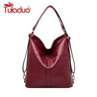 Multifunction Designer Handbags High Quality Genuine Leather Bags For Women Bag Female Messenger Bag Vintage Ladies Shoulder Bag