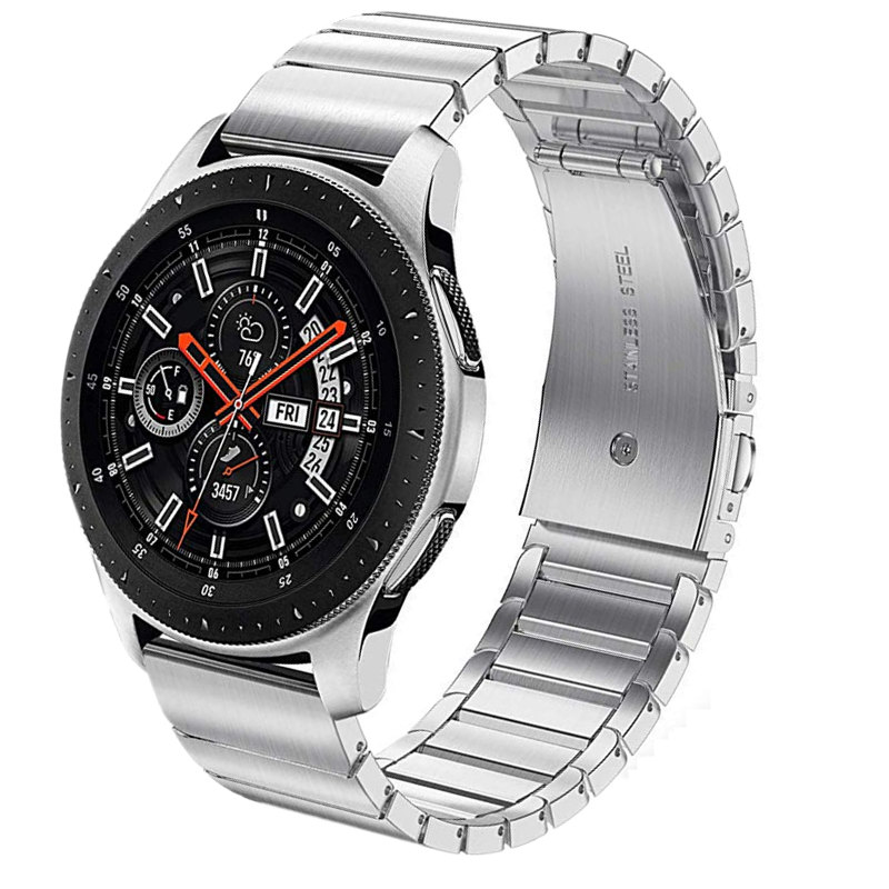 22mm 20mm Stainless Steel Metal Bracelet Strap For Samsung Galaxy Watch 46mm 42mm Active 2 44mm 40mm Gear S3 Band For Gear Sport
