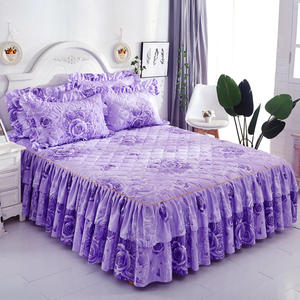 Bed Skirt Bedspread Bed-Cover Polyester Double-Lace Elastic-Band Thicken Wedding-Housewarming
