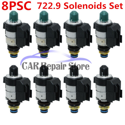 OEM 8PCS 722.9 Solenoids Set For Mercedes Benz 7 Speed Automatic Transmission 220 277 10 98 220 277 01 98 220 277 08 98