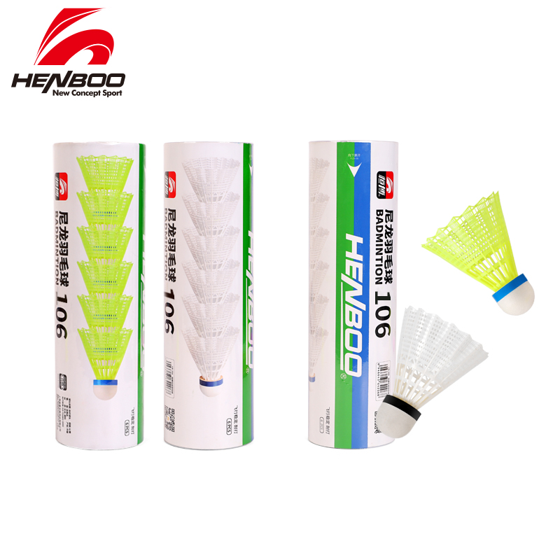HENBOO 3 Pieces/Lot Of Badminton Shuttlecock Nylon Ball Outdoor Durable Explosion Badminton Sports Badminton Accessories 103