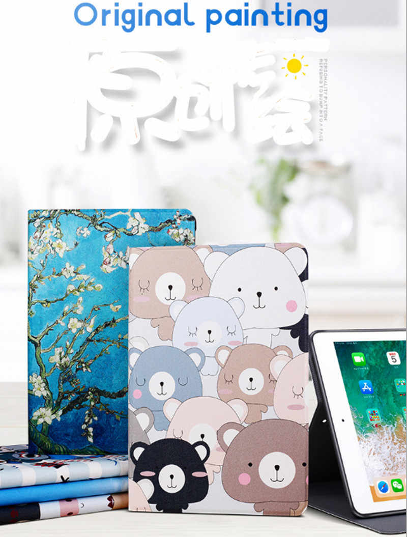 Ultra Slim cartoon Case Voor Xiao mi mi pad 4 8.0 inch smart Tablet pu LEER Magnetische Flip Cover Voor Xiao mi mi pad 4 plus 10.1