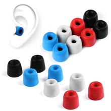 T100 T200 T300 T400 3-5mm kaliber akcesoria do zestawu słuchawkowego słuchawki porady gąbka piankowa wkładki do uszu do słuchawek izolacja hałasu zatyczki do uszu tanie tanio BINYEAE CN (pochodzenie) Nauszniki Other