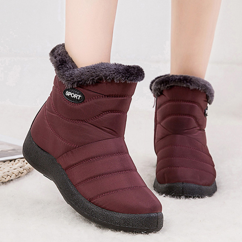 Women Boots Waterproof Snow Boots Female Plush Winter Boots Women Warm Ankle Botas Mujer Winter Shoes Woman Plus Size 43