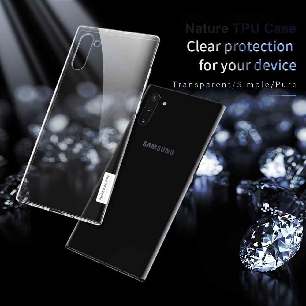 Case Voor Samsung Galaxy Note 10 10 + Nillkin Natuur zacht TPU siliconen clear Transparant Back Cover Case Voor Samsung s10 PLUS S10e