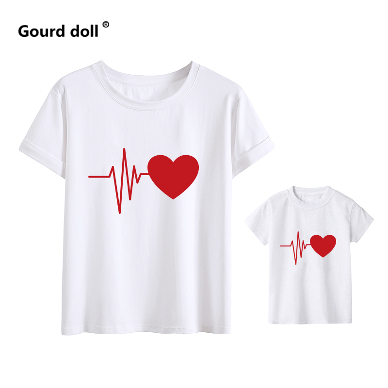 H7dbcfe5610bb4a21b20e7a2b9395faecU - Love mommy and me clothes heartbeat tshirt baby girl clothes family look matching clothes mother and daughter matching outfits