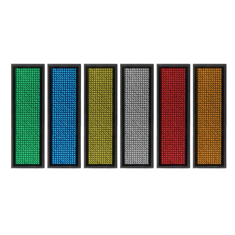 LED Mini numérique Programmable défilement Rechargeable nom étiquette de Message Badge signe en gros et livraison directe