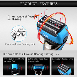 Image 2 - Reciprocating Electric Shaver for Men 3D Floating Four Blade Rechargeable Bread Shaving Machine Waterproof Electric Razor D43