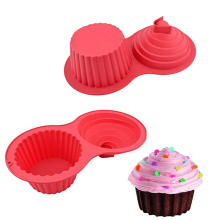 1PC Silicone Cake Mold 2 Shapes Chocolate Baking Tools non-stick For 3D Diy Birthday Wedding