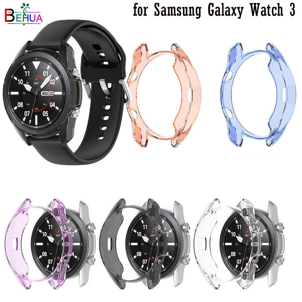 Zachte Ultra-Dunne Tpu Screen Bescherming Horloge Case Voor Samsung Galaxy Horloge 3 45Mm 41Mm Clear Protector cover Shell Frame Bumper