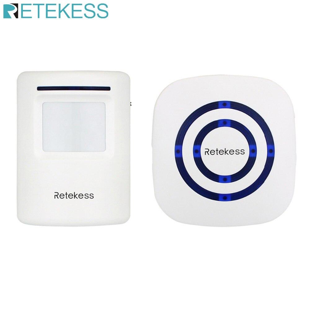 RETEKESS T801 Wireless Chime Alarm Alert Doorbell with PIR Motion Sensor Infrared Detector Induction Gate Entry Door Bell Home