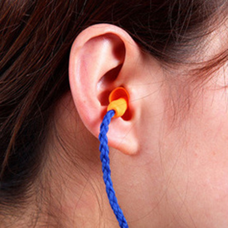 Soft Ear Plugs Silicone Corded  Waterproof Earplugs Reusable Hearing Protect Safety Earplugs Diving Water Sports Swimming