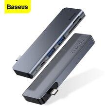 Baseus USB HUB C Tipo c para Multi Portas USB 3.0 Tipo C Adaptador de Energia USB3.0 USB C HUB Splitter dock Para Macbook Pro Ar USBC HAB