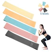 Direnç bantları spor sakız egzersiz spor gücü egzersiz elastik bantlar Fitness Mini bantlar Yoga Crossfit eğitim ekipmanları