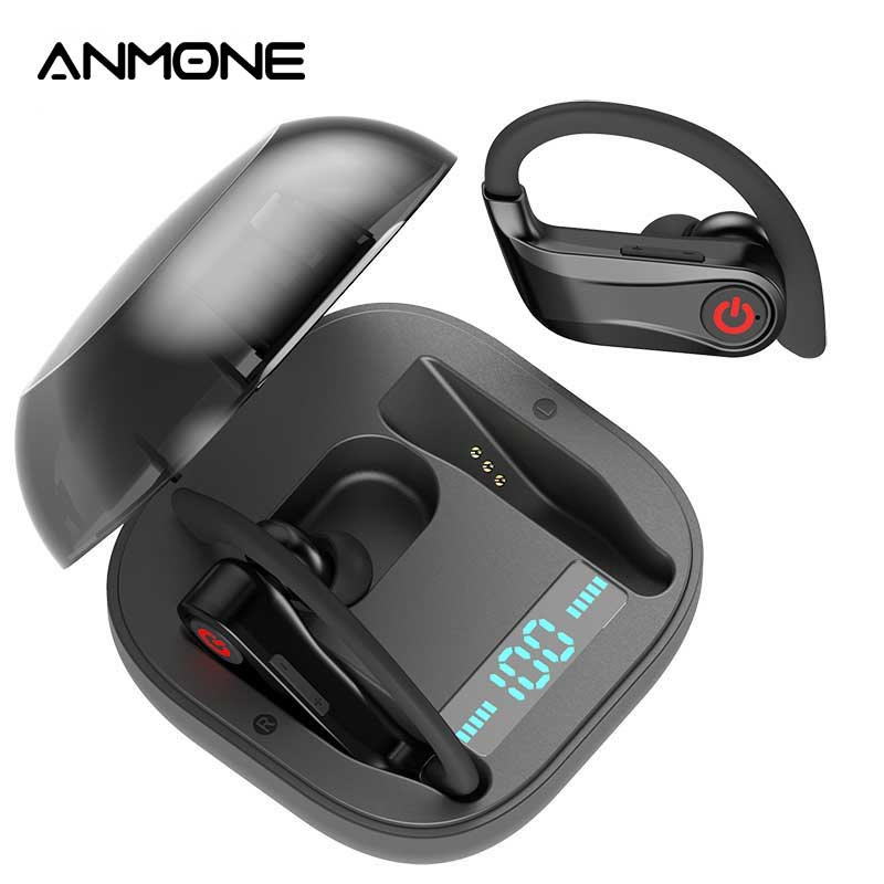 Anmone Tws Wireless Earphones Bluetooth 5 0 Headset Earbud Stereo Deep Bass Sports With Mic Charging Box For Xiaomi Redmi Note 7 Bluetooth Earphones Headphones Aliexpress