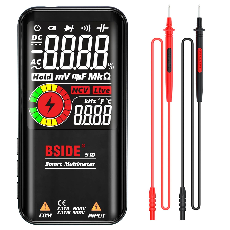 BSIDE S10 / S11 Digital Smart Multimeter Color LCD Display 9999 Digital DC AC Voltage Capacitor Ohm Diode NCV Hz Tester DMM