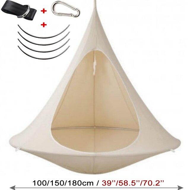 Camping Tree Teepee Cocoon Swinging Hammock  6