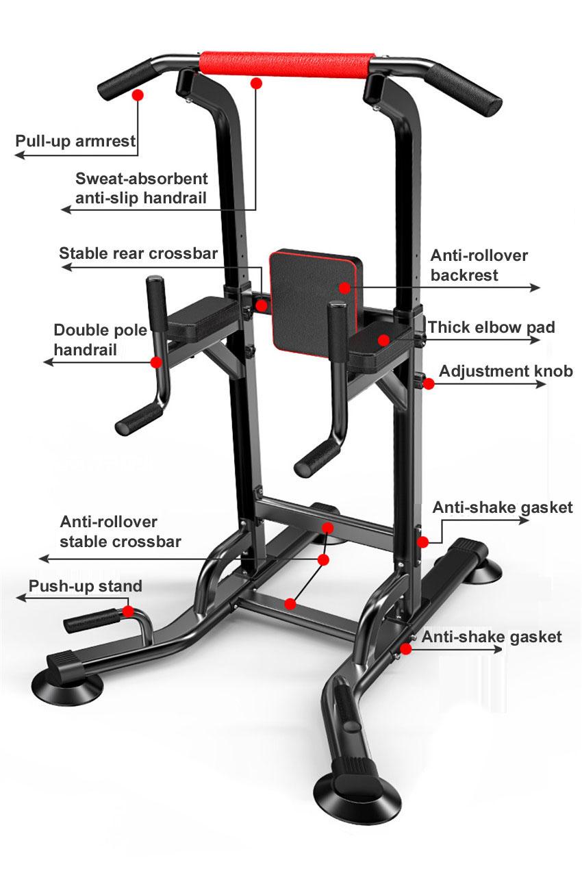 Barre horizontale multifonctionnelle d'équipement de forme physique d'intérieur barre simple/parallèle tirez l'exercice de dos de bras de construction de corps d'entraîneur - 5