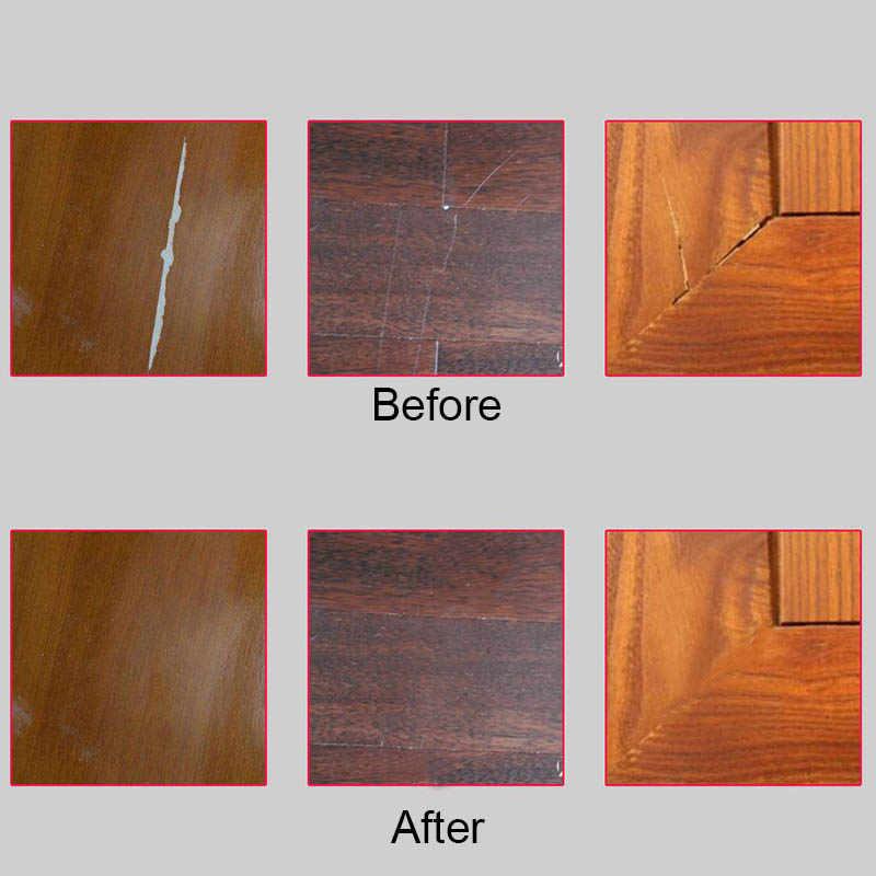 Rotuladores de reparación de muebles, removedor de pintura de relleno de arañazos para gabinete de madera, mesas de suelo, sillas LB88