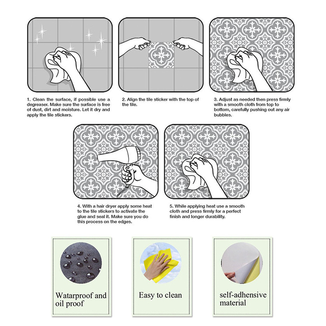 Arabic Style Mosaic Tile Stickers 10